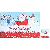 BESTOYARD Manteles de Navidad Cuchillo Tenedor Copa Posavasos Posavasos a Prueba de Calor Fiesta de decoración de Escritorio Suministros (Santa de Trineo)