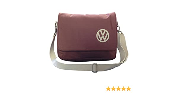 792f508d043a2 Official VW Canvas Messenger Shoulder Bag - Red: Amazon.co.uk: Kitchen &  Home