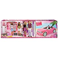 Barbie Dress Up and Go Includes Ultimate Closet, Glam Convertible and Barbie & Ken Dolls Big Box Set by Barbie