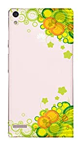 WOW Transparent Printed Back Cover Case For Huawei Ascend P6