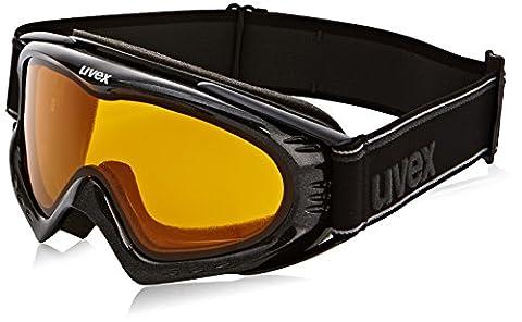 UVEX Skibrille F 2, Black Met/Lasergold Lite, One size,