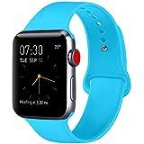 ATUP Armband Kompatibel für Apple Watch Armband 38mm 42mm 40mm 44mm, Weich Silik on Ersatz Armband für iWatch Series 4, Series 3, Series 2, Series 1 (09 Teal, 42mm/44mm-S/M)