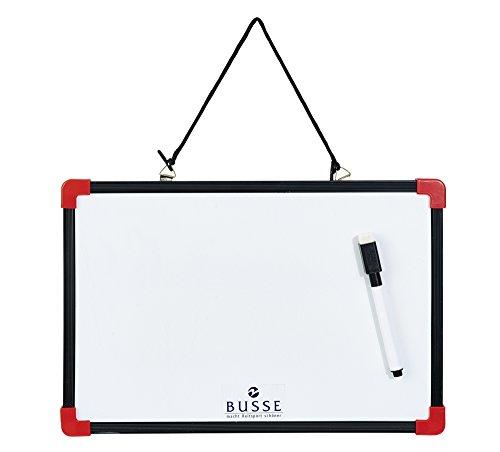 Busse Schreibtafel mit Stift, 30x20, schwarz/weiß