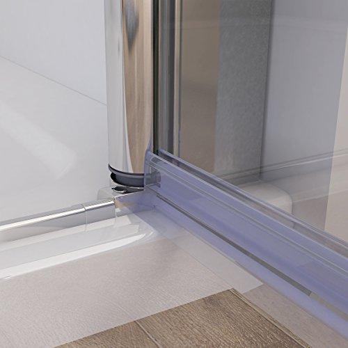 Duschkabine mit 180 Grad Schwingtür, 90 x 75 (Seitenwand) x 195cm im Vergleich - 9