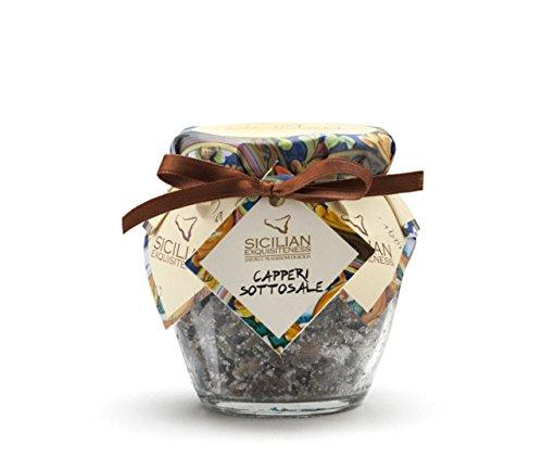 Handgemachte sizilianische in Salz Kapern - 130g Glas - Handgemachte Salz
