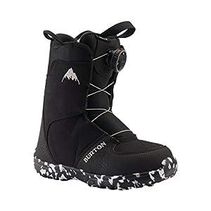 Burton Kinder Grom Boa Snowboard Boot, Black, 3K