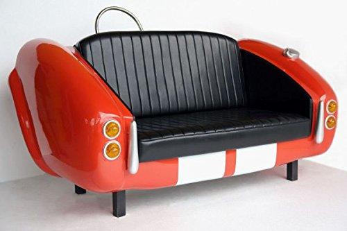 Walt-Deko Cobra Voiture Canapé avec Bande Course lebensgroß 110 cm pour l'extérieur en Fibre de Verre Haute qualité Plastique (GFK)