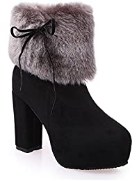 Hannea 2017 New Autumn And Winter In The Warm And Thick Heeled Barrel Cashmere Boots