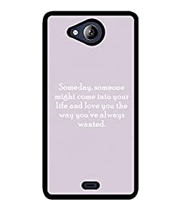 Fuson 2D Printed Quotes Designer back case cover for Micromax Canvas Play Q355 - D4592