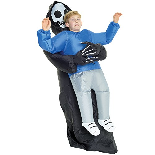 Riesige aufblasbare Blow Up Pick Me Up Kostüm–erhältlich in verschiedenen Designs (Erwachsene Grim Reaper Kostüm)