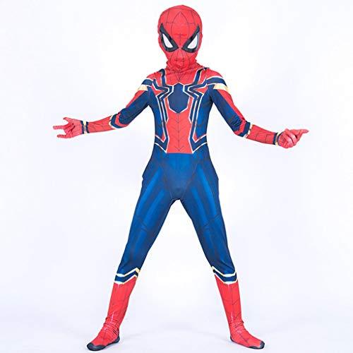 YUNMO Spider-Man Parallel Universum Cos Kleidung Stahl Hemd Strumpfhosen Kinder Anime Hero Return Party (größe : M)