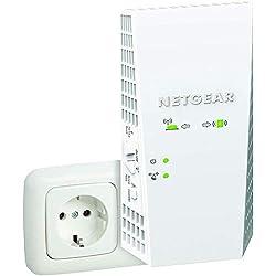 NETGEAR Répéteur WiFi Mesh EX6250 - Couvre Jusqu'à 139 M² et 25 Appareils Grâce à Un Amplificateur de Signal WiFi Dual Band AC1750 (Jusqu'à 1 750 Mbit/s) et à L'itinérance Intelligente Maillée