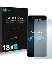 Savvies Schutzfolie für Samsung Galaxy A6 Plus (2018) [18er Pack] Folie Displayschutzfolie - Displayfolie klar