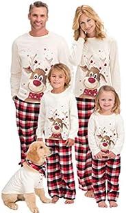 Inmindboom Conjuntos de Pijamas Familiares navideños a Juego con Perro, Conjunto de Pijamas Familiares navideñ