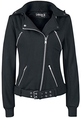 Gothicana by EMP Multi Zip Jacket Felpa jogging donna nero S