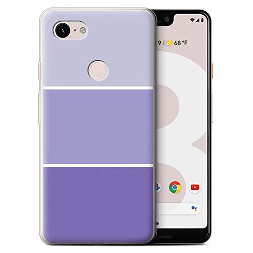 Stuff4® Gel TPU Hülle/Case für Google Pixel 3 XL/Lila Muster/Pastell Farbton Kollektion