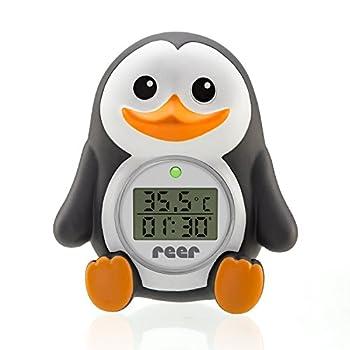 reer 24041 Digitales Badethermometer 2in1 MyHappyPingu, grau