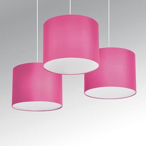 Neon Rose Lumiere - §§ Lot de 3 Suspensions / Lustres
