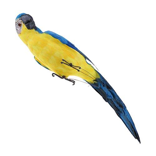 non-brand Sharplace Ornamento de Patio Frontones Decorativos Dosificadores de aliño Especias Loro Lindo - Azul