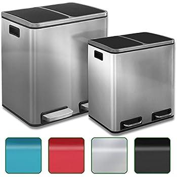Poubelle Tri Selectif Ikea : casa pura stainless steel pedal bin 60 litre 2 x 30l ~ Pogadajmy.info Styles, Décorations et Voitures