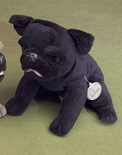 FÖRSTER 4260 Mops sitzend schwarz 20cm (Schwarze Stofftier Mops)