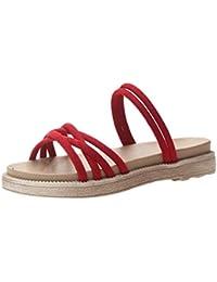 Sandalias Mujer Verano 2019 tacón Alto Zapatillas Roman Shoes Zapatos Casuales con Cordones Ligero y Transpirable