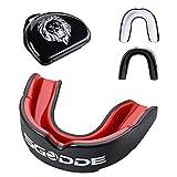 SGODDE Zahnschutz, Mundschutz mit hygienischer Aufbewahrungsbox,Zahnschutz Boxen,Gummi,anpassbarer Mundschutz für Erwachsene,Perfekt für Boxen, MMA, Rugby(Rot)