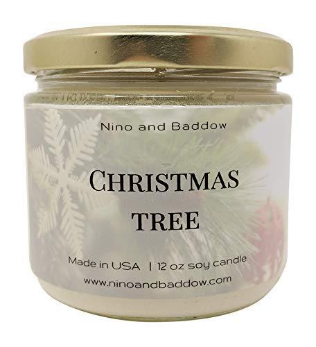 Nino and Baddow Soja Kerze Made in USA 12oz ätherischen Ölen natürlich Duft Färbemitteln Paraffin Frei Brennt Sauber Grün (In Usa Made Kerzen)
