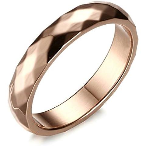Alimab gioielli anelli donna Acciaio inossidabile acciaio rombo liscio Banda nozze - Università Delle Donne Orologio Del Cuore