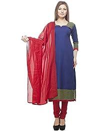 ff54cdeb21 DivyaEmporio Women's Faux Cotton Printed Unstitched Salwar Suit Dress  Material
