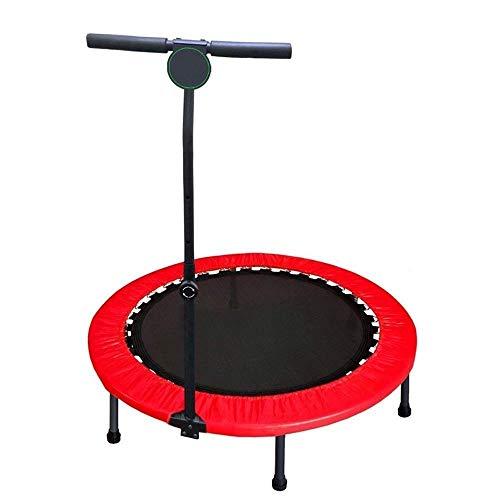 MMAXZ Tragbares und faltbares Trampolin - Home Mini Rebounder mit verstellbarem Handlauf, Fitness-Körperübungen (Color : Red)