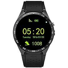 Dispositivo King-Wear KW88 SmartWatch Podómetro de Ritmo cardíaco Anti-perdida para Android 5.1