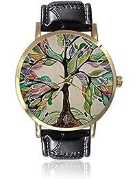 3878dc45352a Reloj de Pulsera de Cuarzo con diseño de árbol de la Vida para Mujer y  Hombre