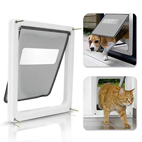 Sailnovo Hundeklappe Katzenklappe Haustiertüre 4-Way Magnetic Lock Große