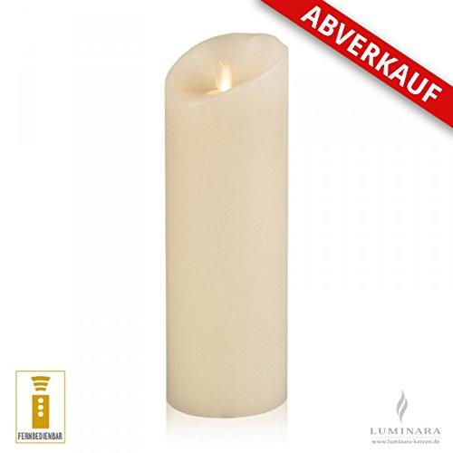 LED vela de cera con 8 x 23 cm marfil se puede controlar de estructura