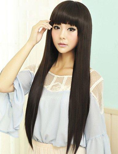 Mode Perücken WIGSTYLE Japan und Südkorea Mode schwarze Qi Liu hai langen glatten Haaren Perücke