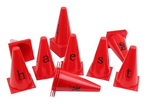 Lot de 26 cônes avec les lettres de l'alphabet!