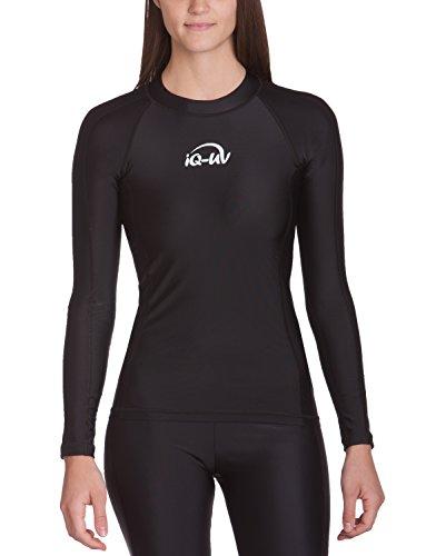 iQ UV 300 Shirt eng geschnitten, langarm, UV-Schutz T-Shirt, Black, L, 666122-2800