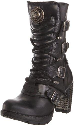 New Rock M.TR003-S1, Damen Stiefel, Schwarz (itali schwarz)