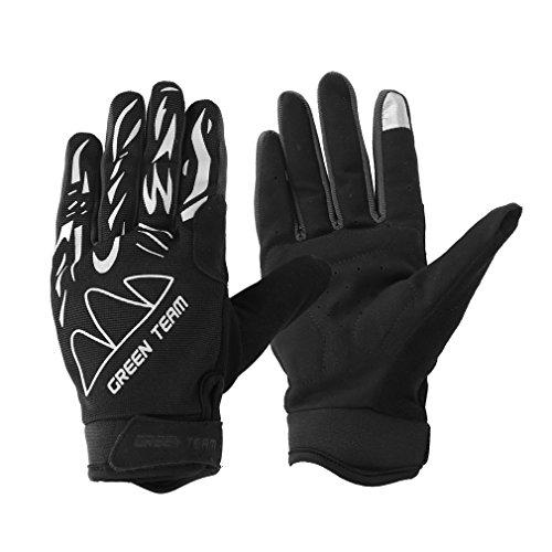 Ondeni® guanti della bicicletta per l'inverno freddo e proteggere la mano, traspirante e confortevole,Bianco e nero,taglia XL