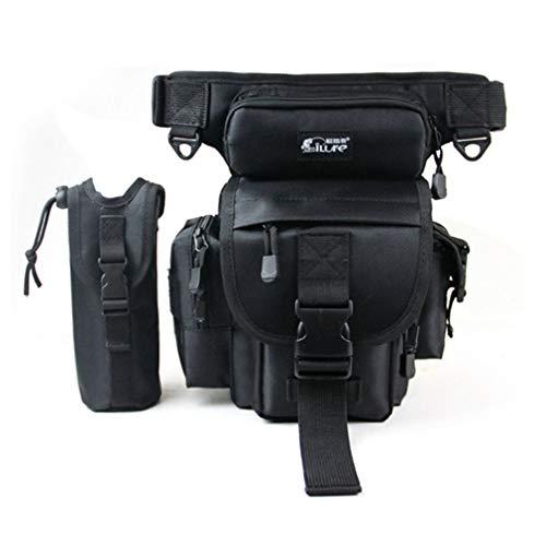 Xieben Angeln Drop Bein Tasche für Männer Outdoor-Tackle Fanny Blet Pack Multifunktions Utility Rig Tatical Tasche Abnehmbare Wasserflasche Beutel Lagerung für Wandern Radfahren Klettern - Pack Geschenk-tasche