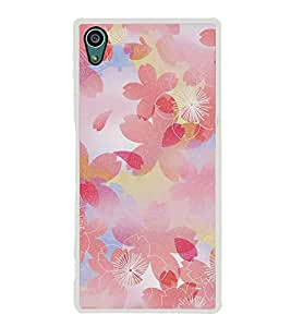 FUSON Designer Back Case Cover for Sony Xperia Z5 :: Sony Xperia Z5 Dual 23MP (Red Colour Floral Beautiful Floral Design stylus Colorful Floral wallpaper Flowers design)