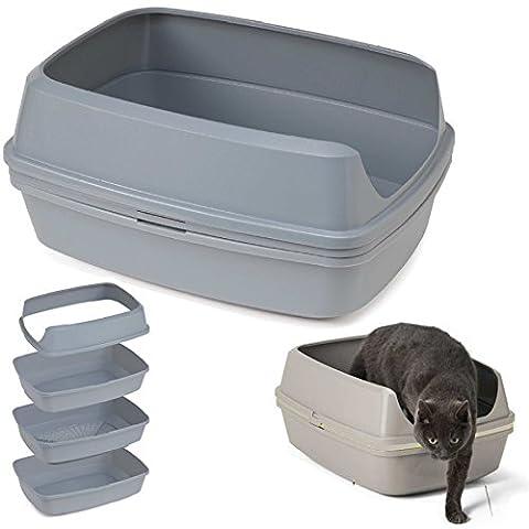 Sieben bzw. passieren Katzentoilette scoopless WC-Karton mit Rahmen Pfanne