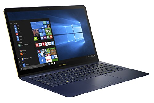 Asus Zenbook 3 Deluxe 90NB0EI1-M02710 35,5 cm (14 Zoll FHD) Notebook (Intel Core i7-7500U, 16GB RAM, 1TB SSD, Intel HD Graphics, Win10) blau