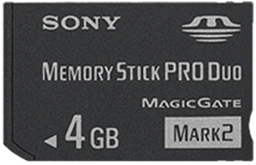 Sony Memory Stick Pro Duo 4GB INMSPDUO4G (Sony Memory Stick Duo)