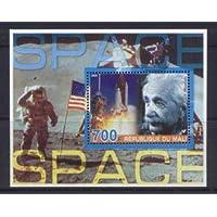 Mali 2005 Space Miniature Sheet 2 Values #2 Einstein Space Shuttle MNH JandRStamps