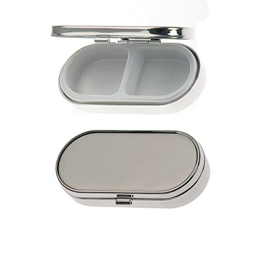 Pillendose 2 Fächer 3x6,5 cm Silber Plated versilbert. Hochwertiges und stabiles Produkt in Premium-Qualität