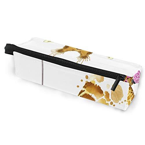 Sonnenbrille Fall Stift Federmäppchen niedlichen Cartoon Tier Giraffe Lutscher Malerei Briefpapier Beutel Aufbewahrungsbox Kosmetiktaschen Brillen Tasche mit Aufhängeöse
