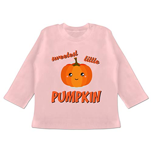 Anlässe Baby - Sweetest Little Pumpkin Halloween - 3-6 Monate - Babyrosa - BZ11 - Baby T-Shirt Langarm