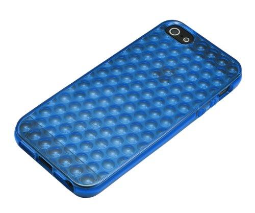 Xcessor Bubbles Coque en TPU souple pour Apple iPhone SE / 5 / 5S Transparent Blue / Transparent